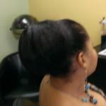 extensions, hair bun rear Marie
