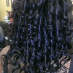 quick weave, drop curls rear, Mandy