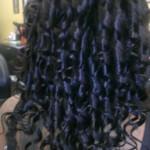 quick weave, drop curls rear, Mandy